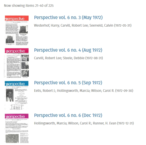 ICS Perspective Archive
