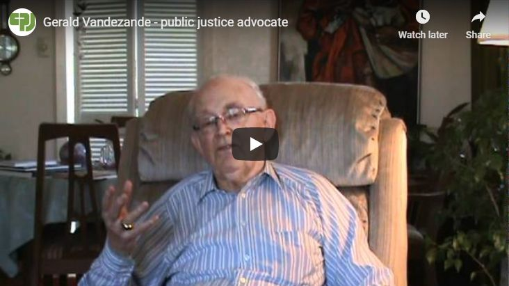 Gerald Vandezande – public justice advocate
